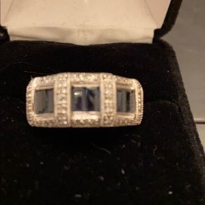 Sapphire and diamond ring 14 kt